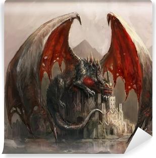 Vinyl-Fototapete Dragon Castle
