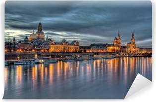 Vinyl-Fototapete Dresden am abend