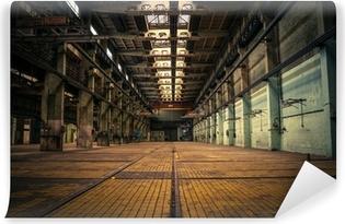 Vinyl-Fototapete Ein verlassenes Industrieinnen
