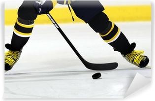 Vinyl-Fototapete Eishockey-Spieler auf Rink