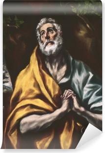 Vinyl-Fototapete El Greco - Der reuige heilige Petrus