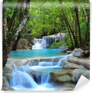 Vinyl-Fototapete Erawan Wasserfall, Kanchanaburi, Thailand
