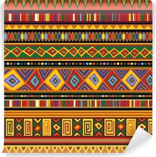 Vinyl-Fototapete Ethnische bunten Muster Afrika Ethnic Art-Farben Kunst Afrika