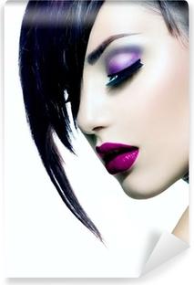 Vinyl-Fototapete Fashion Beauty Girl. Herrliche Frau Portrait