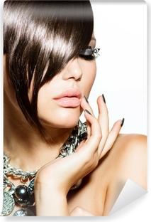 Vinyl-Fototapete Fashion Glamour Schönheit Mädchen mit stilvollen Frisur und Make-up