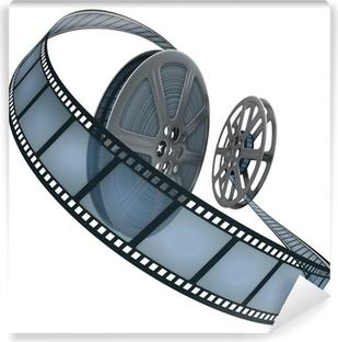 Vinyl-Fototapete Filmrolle. Konzept der Industrie Kinofilmen.