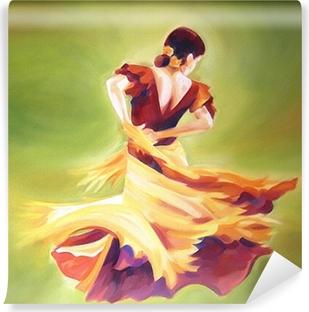 Vinyl-Fototapete Flamenco-Tänzerin
