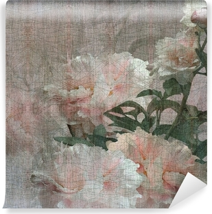 Vinyl-Fototapete Floralen Design Pfingstrosen