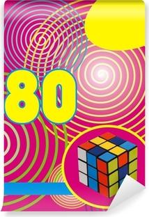 Vinyl-Fototapete Fond années 80 rumikub