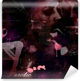Vinyl-Fototapete Fotomontage abstrakten Hintergrund