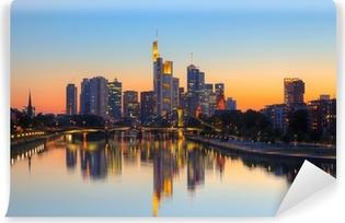 Vinyl-Fototapete Frankfurt am Abenddämmerung Startseite