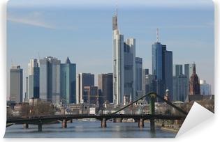 Vinyl-Fototapete Frankfurt skyline