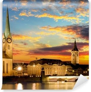 Vinyl-Fototapete Fraumunster - Zurich