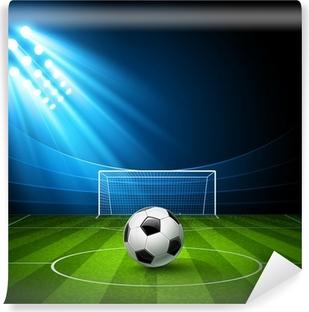 Vinyl-Fototapete Fußball-Arena mit einem Fußball. Vektor