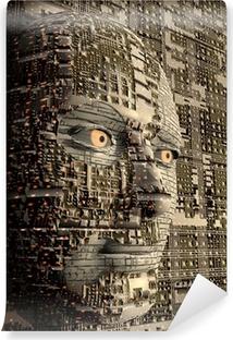 Vinyl-Fototapete Futuristische Gesicht