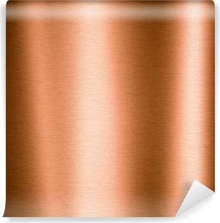 Vinyl-Fototapete Gebürstetes Kupfer Metallblech
