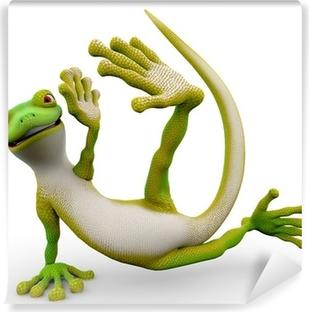 Vinyl-Fototapete Gecko cartoon Freestyle-Dance