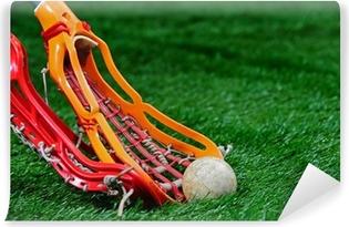 Vinyl-Fototapete Girls Lacrosse Sticks Kampf um den Ball