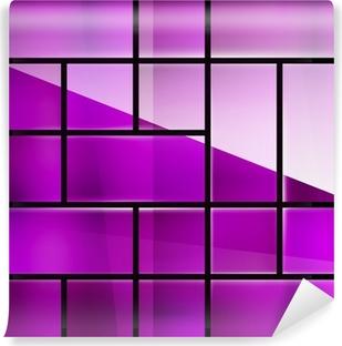 Vinyl-Fototapete Glossy Glasoberfläche geometrische moderne template