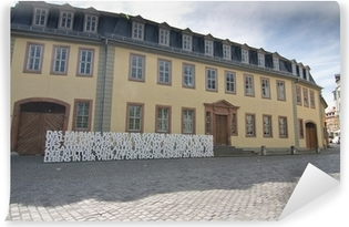 Vinyl-Fototapete Goethes Wohnhaus in Weimar, Thüringen