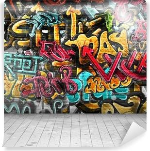 Vinyl-Fototapete Graffiti auf Wand