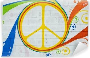 Vinyl-Fototapete Graffiti Hippie-Symbol.
