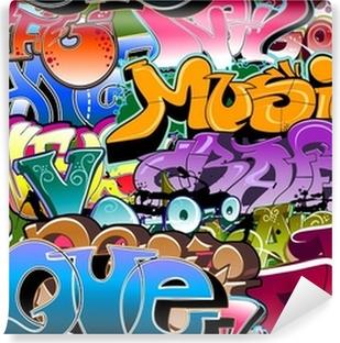 Vinyl-Fototapete Graffiti nahtlose Hintergrund. Hip-Hop-Kunst
