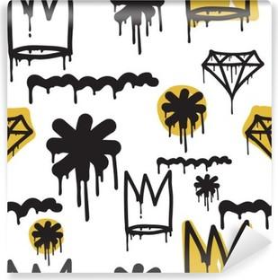Vinyl-Fototapete Graffiti nahtlose Muster