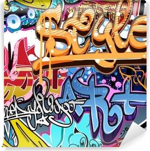 Vinyl-Fototapete Graffiti Wand. Urbane Kunst Vektor Hintergrund. Nahtlose Textur