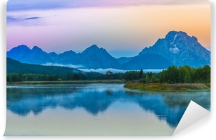Vinyl-Fototapete Grand Teton Reflection am Sonnenaufgang