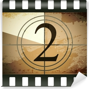 Vinyl-Fototapete Grunge film countdown