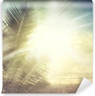 Vinyl-Fototapete Grunge palm-9