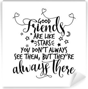 Aufkleber Gute Freunde Sind Wie Sterne Man Sieht Sie Nicht Immer