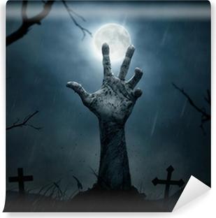 Vinyl-Fototapete Halloween, toten Hand, die sich aus dem Boden