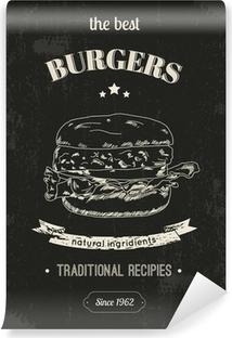 Vinyl-Fototapete Hamburger Poster