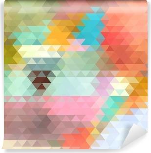 Vinyl-Fototapete Hellen Hintergrund der Dreiecke