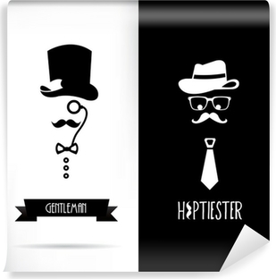 Vinyl-Fototapete Herr und hipster