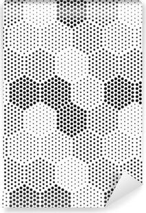 Vinyl-Fototapete Hexagon Illusion Pattern