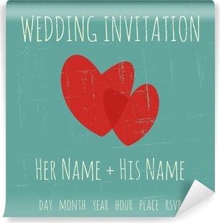 Fototapete Hochzeits-Einladungs-Schablone • Pixers® - Wir leben, um ...