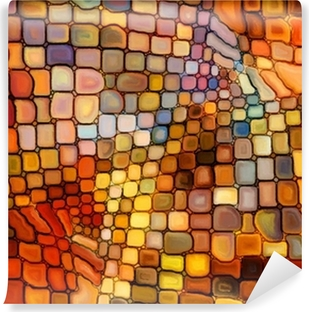 Vinyl-Fototapete Illusion of Stained Glass