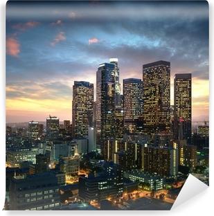 Vinyl-Fototapete Innenstadt von Los Angeles bei Sonnenuntergang, Kalifornien