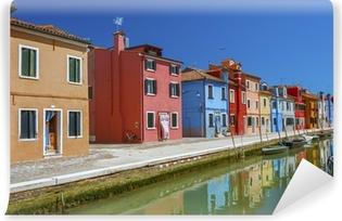 Häuser Italien fototapete wahrzeichen venedigs burano insel straße bunte häuser