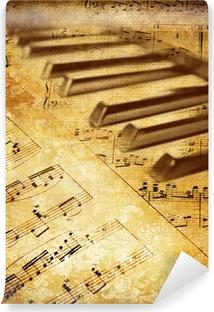 Vinyl-Fototapete Jahrgang musikalischen Hintergrund