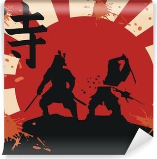 Vinyl-Fototapete Japan Samurai