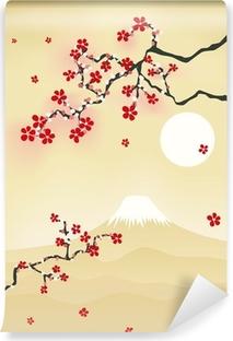 Vinyl-Fototapete Japanische kirschblüte