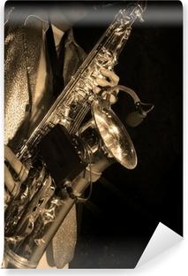 Fototapete Schwarzer Amerikanischer Jazz Saxophonist. Weinlese. Studio  Gedreht. U2022 Pixers®   Wir Leben, Um Zu Verändern
