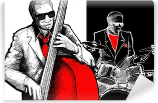 Vinyl-Fototapete Jazzband