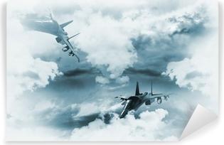 Vinyl-Fototapete Jets Hintergrund