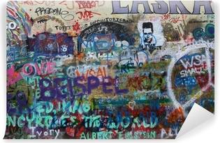 Vinyl-Fototapete John Lennon Wand Prag