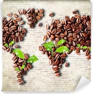 Vinyl-Fototapete Kaffee auf der ganzen Welt